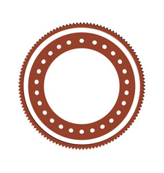 Realistic brown color heraldic circular shape vector