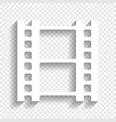 reel of film sign white icon with soft vector image vector image