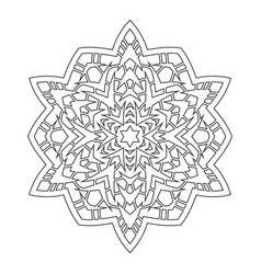 round ornament for coloring books black and white vector image
