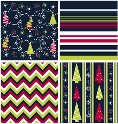 seamless patterns - fabric texture vector image vector image