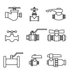 Set of faucet vector