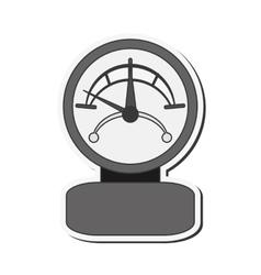 Single manometer icon vector