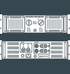 solid color speaker amplifier device vector image vector image