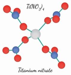 Titanium nitrate TiN4O12 molecule vector image vector image