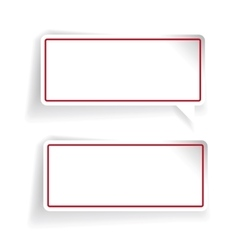 Empty label set red vector