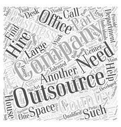 Outsourcing word cloud concept vector