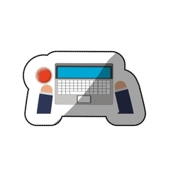 Work and technology concept vector image