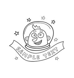 in doodle style astronaut and vector image
