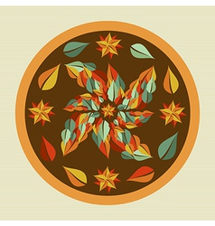 Yoga leaves mandala vector