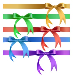 Decorative bow in various colors vector