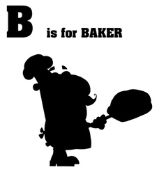 Cartoon baker silhouette vector