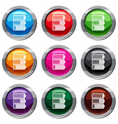 Battery indicators set 9 collection vector