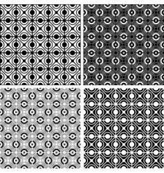 Seamless checked crisscross patterns set vector