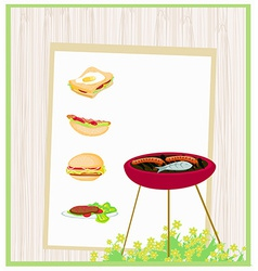 Barbecue party invitation vector