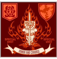 Special unit military patch - set vector image