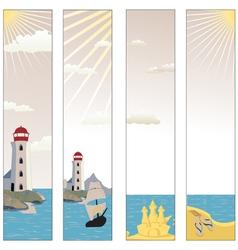 seaside banners set vector image