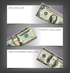 Money dollar banners vector
