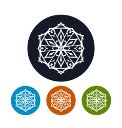 Icon of a snowflake christmas decoration vector