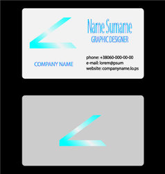 Visit business card vector