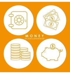 Money and investment vector