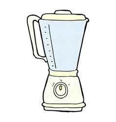 Comic cartoon kitchen blender vector