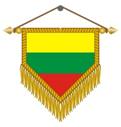 Pennant with the flag of lithuania vector