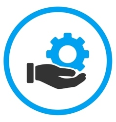 Mechanic service rounded icon vector