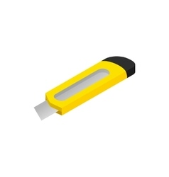 Construction utility knife icon isometric 3d style vector image