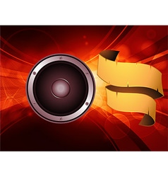 Abstract glowing background with speaker and vector image vector image