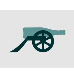 Ancient wine bottle cannon vector