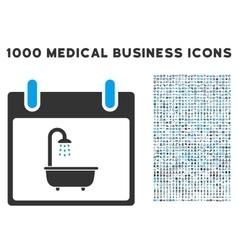 Bath calendar day icon with 1000 medical business vector