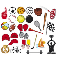 big sport collection- sport icons vector image vector image