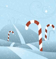 candy cane hill vector image vector image
