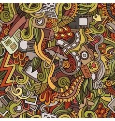 Cartoon hand-drawn doodles photography seamless vector