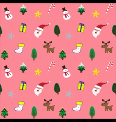 Christmas theme baclground pink seamless pattern vector