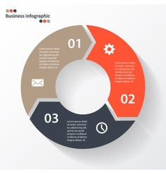 Circle arrows for your info graphic vector