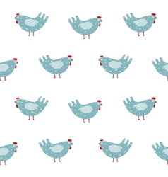 Funny folk hen seamless pattern background vector