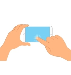 Hand holding smartphone sign in page on phone vector