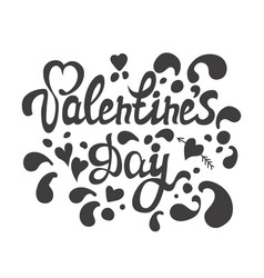 happy valentines day hand drawn lettering i love vector image vector image