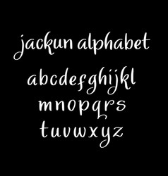Jackun alphabet typography vector