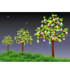 Light trees vector image