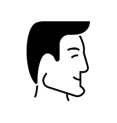 man head - human head - good businessman profile vector image vector image