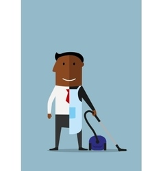 One half manager at work another home vector