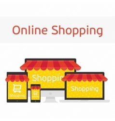 OnIine shopping concept vector image vector image