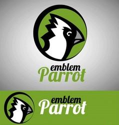parrot emblem vector image