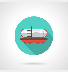 railway barrel blue round icon vector image vector image