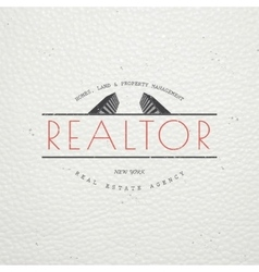 Real estate agency Buy Sell and Consultancy vector image