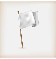 Realistic white flag icon surrender concept banner vector