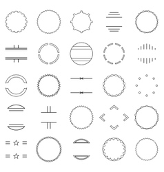 set of elements vector image