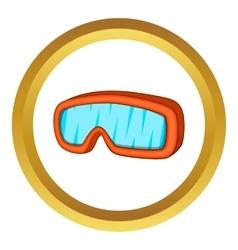 Ski sport goggles icon vector
